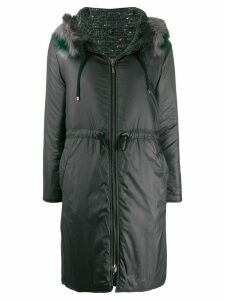 Lorena Antoniazzi fur-trimmed hooded parka - Green