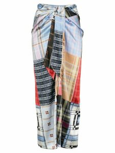 Ganni check patchwork skirt - Multicolour