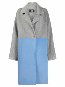 Karl Lagerfeld colour-block button coat - Grey