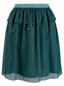 Kenzo Holiday Capsule metallized skirt - Blue