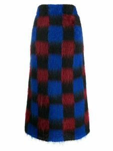 Kenzo knitted check skirt - Blue