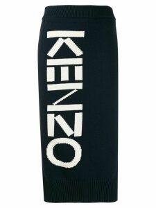 Kenzo knitted logo skirt - Blue