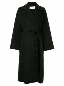 Le Ciel Bleu double faced oversized coat - Black