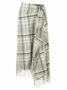 Irene fringed scarf skirt - Grey