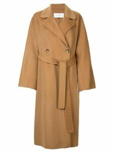 Le Ciel Bleu double faced oversized coat - Brown
