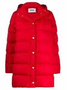 MSGM padded coat - Red