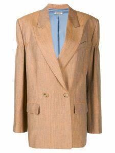 Nina Ricci double breasted blazer - ORANGE