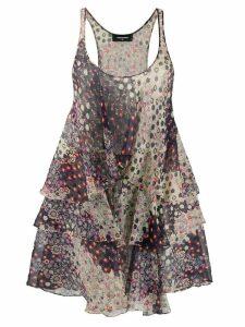 Dsquared2 floral print tiered short dress - Purple