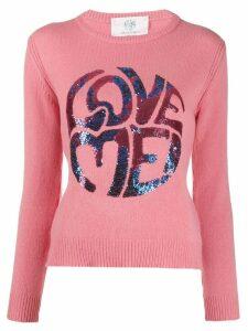 Alberta Ferretti 'Love Me' sequin jumper - PINK