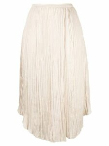 Vince crinkle effect pleated skirt - Neutrals