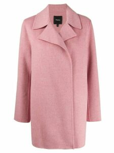Theory double-breasted fitted coat - PINK