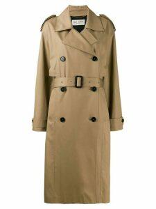 Saint Laurent belted trench coat - Brown