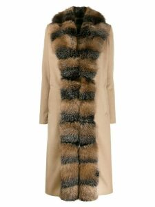 Philipp Plein Luxury trimmed coat - Neutrals