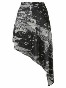 Strateas Carlucci abstract-print asymmetric skirt - Black