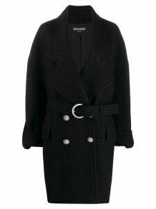 Balmain double-breasted cocoon coat - Black