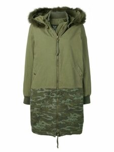 Mr & Mrs Italy panelled parka coat - Green