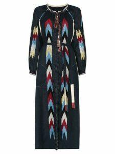 Vita Kin Arizona embroidered midi dress - Blue