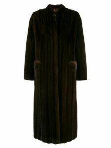 Liska Notes long coat - Brown