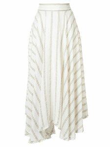 Kitx Handwoven stripe circle skirt - White