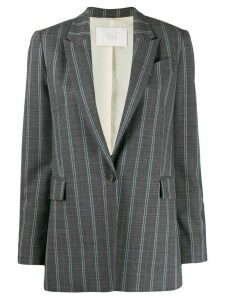 Tela striped single-breasted blazer - Grey