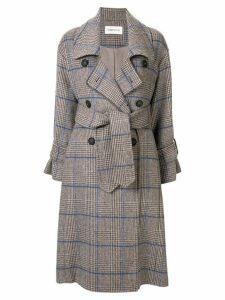 PortsPURE herringbone tweed trench coat - Grey