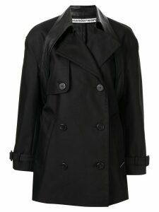 Alexander Wang double-breasted belt detail coat - Black