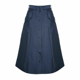 DIANA ARNO - Beate A-Line Skirt In Violet Blue