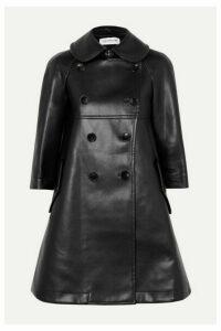 Comme des Garçons GIRL - Cutout Faux Leather Double-breasted Coat - Black