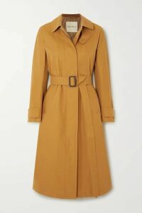 Max Mara - The Cube Belted Gabardine Trench Coat - Gold