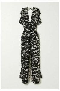 Maticevski - Insecta Zebra-jacquard Maxi Dress - Zebra print