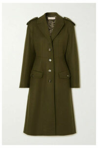 Marni - Wool-blend Drill Coat - Army green