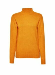 Womens **Vila Yellow High Neck Knittd Jumper- Red, Red