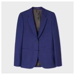 A Suit To Travel In - Women's Cobalt Blue Two-Button Wool Blazer
