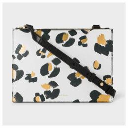 Women's 'Painted Leopard' Print Leather Cross-Body Bag