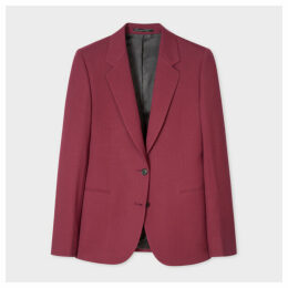 A Suit To Travel In - Women's Burgundy Two-Button Wool Blazer