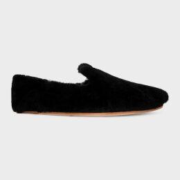 Women's Black Windowpane Check Buggy-Lined Wool-Blend Blazer