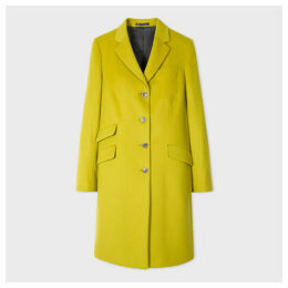 Women's Lime Four-Button Wool-Cashmere Epsom Coat