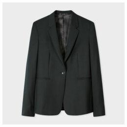 A Suit To Travel In - Women's Dark Green One-Button Wool Blazer