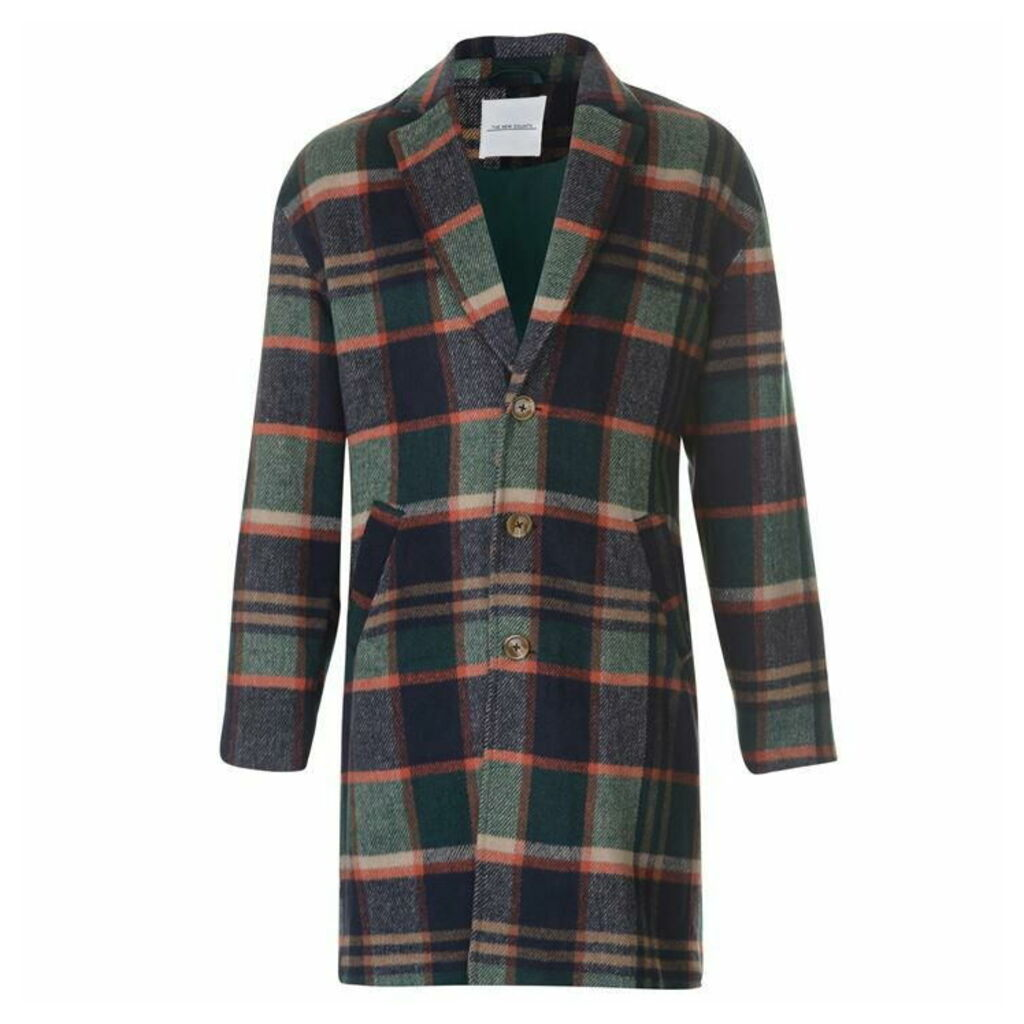 New County Overcoat - Green Multi