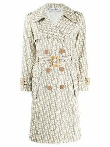 Christian Dior Pre-Owned 2005 Trotter pattern trench coat - Neutrals