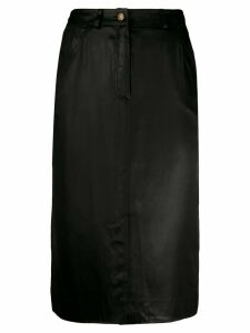 Christian Dior Pre-Owned silk 1990s five-pocket pencil skirt - Black