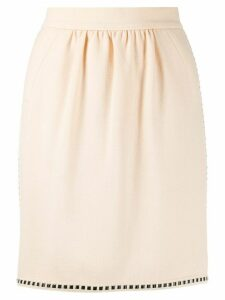 Chanel Pre-Owned 1990s ribbon detail short skirt - NEUTRALS