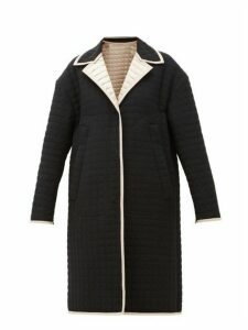 No. 21 - Reversible Quilted-satin Coat - Womens - Black Beige