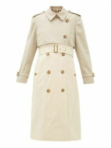 Burberry - Deighton Bicolour Cotton-gabardine Trench Coat - Womens - Beige