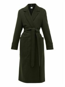Burberry - Sherringham Belted Cashmere Coat - Womens - Dark Green