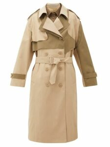 Preen Line - Adel Asymmetric Double-breasted Twill Trench Coat - Womens - Beige