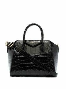 Givenchy GIV ANTIGONA SMALL MOC CROC BAG - Black