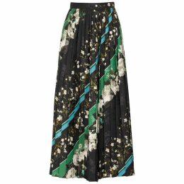 Erdem Nolana Floral-print Pleated Midi Skirt
