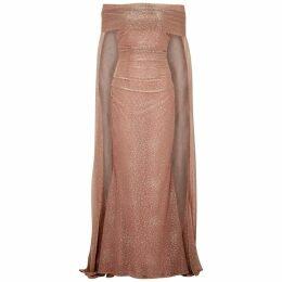 Talbot Runhof Bortolo Blush Metallic Gown