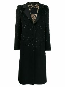 Philipp Plein star studded coat - Black